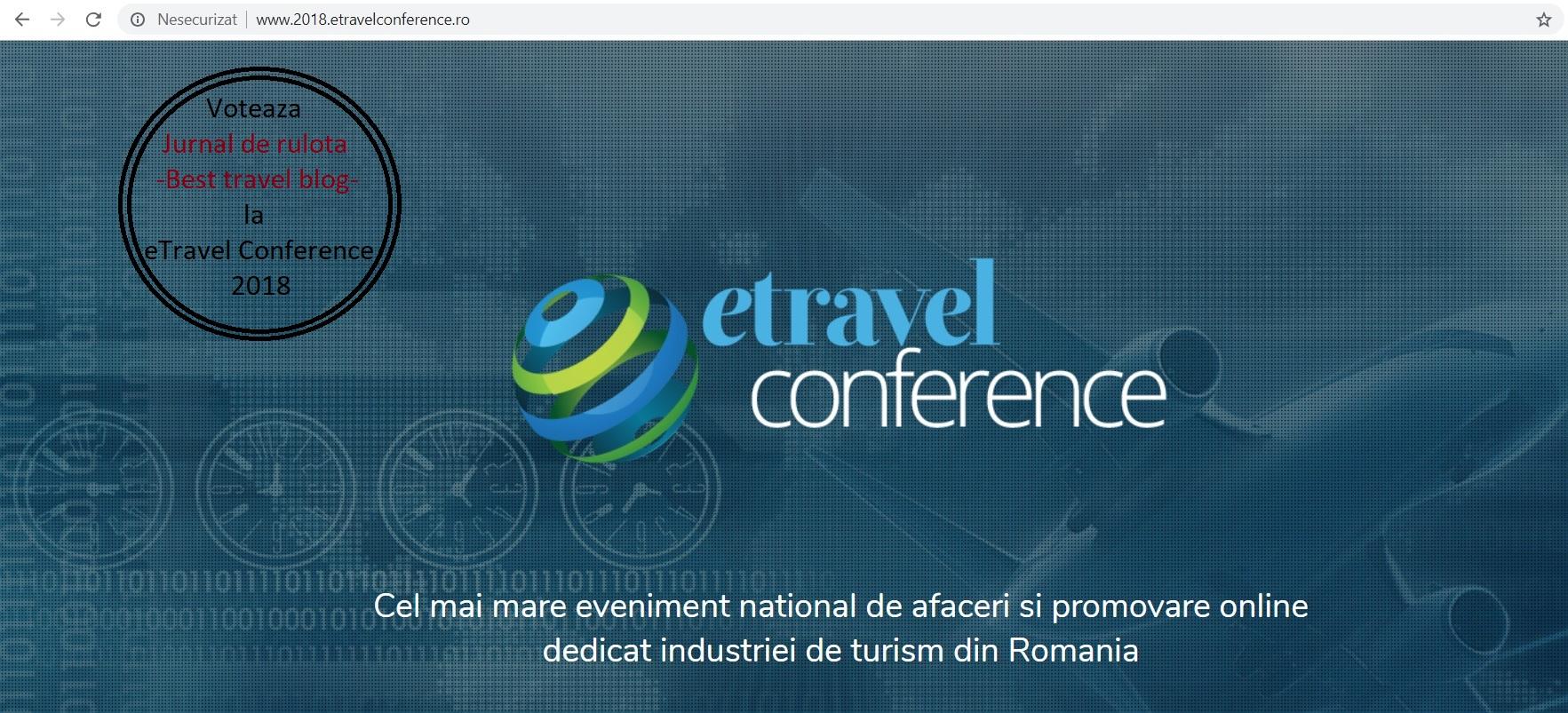 eTravel Conference si despre cum am descoperit ca suntem nominalizati la categoria Best Travel Blog 2018