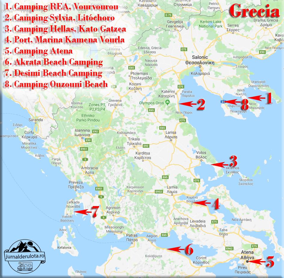 Campinguri in care am stat in Grecia